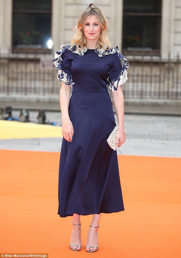 She's a Lady: Downton Abbey star Laura Carmichael was back to her best on Wednesday, as she slipped into a stunning frock for the Royal Academy Summer Exhibition preview party