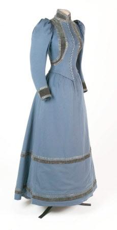 Dress (suit?), 1895. Stringer, Belfast. Wool with (silk?) Velvet. Springhill © National Trust / The Gap Studio