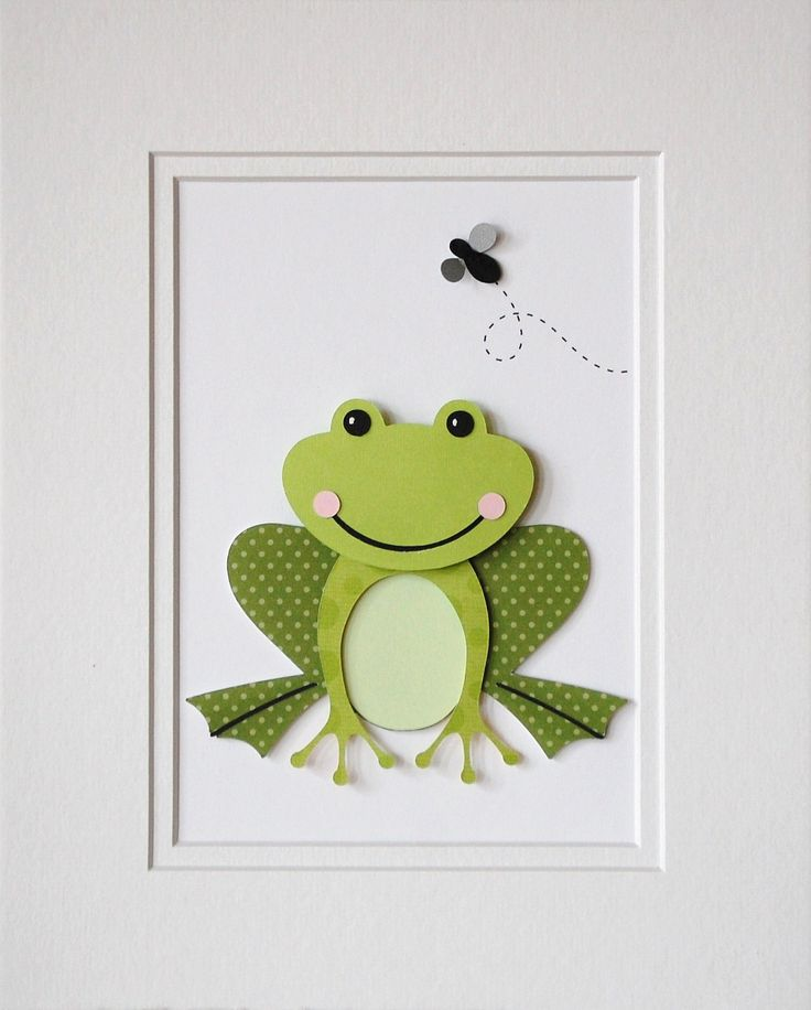 Frog Decor Kids Wall Art Childrens Decor Nursery Decor Art Matte Die Cut Custom Design Green Frog