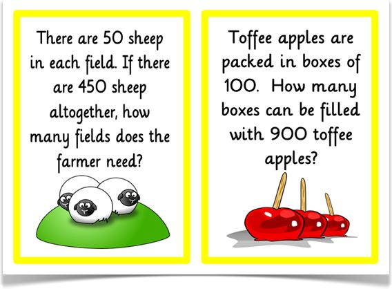 Division-Problem Solving - Treetop Displays - A set of 18 A5 problem solving posters. With a title/ explanatory poster, each visual poster has a word problem question that requires children to use their understanding of division. Questions are aimed at all abilities. Visit our website for more information and for other printable resources by clicking on the provided links. Designed by teachers for Early Years (EYFS), Key Stage 1 (KS1) and Key Stage 2 (KS2).