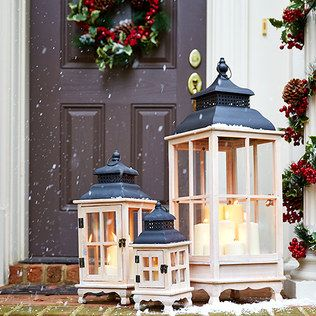 Night Before Christmas Outdoor Décor Large Lanternsrustic Christmaswhite Christmaschristmas
