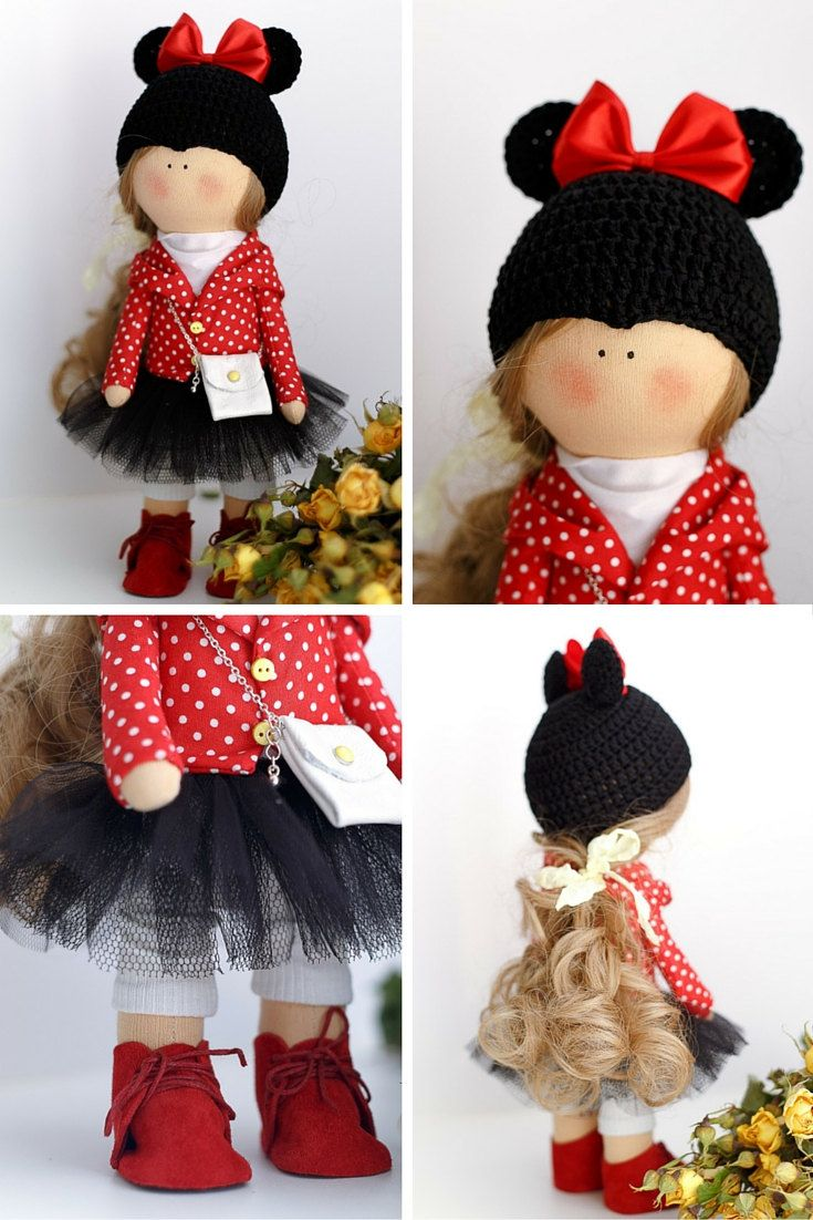 Love tilda doll Art doll Holiday doll by AnnKirillartPlace on Etsy