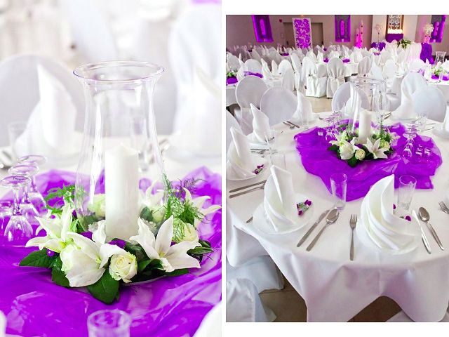 253 best centerpieces candles images on pinterest for Simple wedding reception table decorations