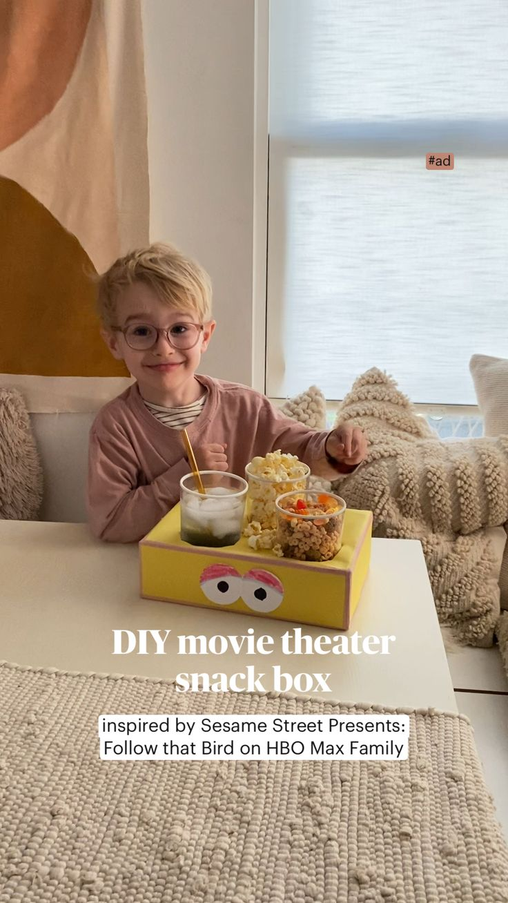 Movie Theater Snacks, Fun Diy Crafts, Crafts For Kids, Paper Crafts, Snack Box, Toddler Activities, Activities For Kids, Fun Sleepover Ideas, Little Mac