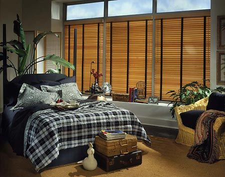 Adding cloth tapes to your faux wood blinds lets you tie together your room's dé cor for a finished, professionally designed look.