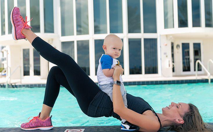 Модные мамы, современные родители, убрать живот послке родов