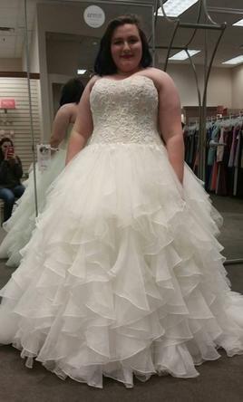 Cool Oleg Cassini CWG Organza Ruffle Skirt Wedding Dress W buy this dress for a