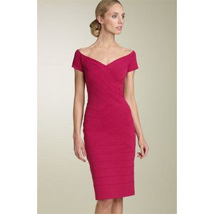 #tadashishoji #pink #simple #dress #casual #fashion