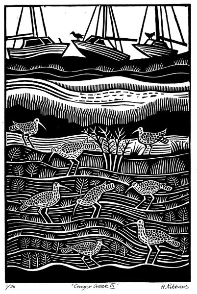 Hugh Ribbans : Linocuts & Woodcuts - Art For Sale