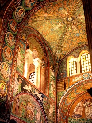 Heading here this August!  Mosaics in Basilica di San Vitale in Ravenna, Italy
