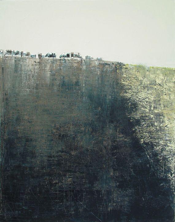 """""""Onze vaches"""" by Benoit Trimborn - Regards sur le Paysage - oil on canvas, 2008"""
