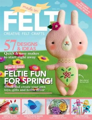 Made in Felt issue 3! Celebrate spring with the latest issue of Made In Felt, the magazine dedicated to creative felt crafting. Whether you're new to felt or are a more experienced crafter looking for fresh inspiration, this edition features 132 pages of beautiful projects. From toys and gifts to home décor, there's something for everyone, and there are clear, step-by-step instructions for a range of techniques including needle-felting, embroidery and simple stitched accessories.