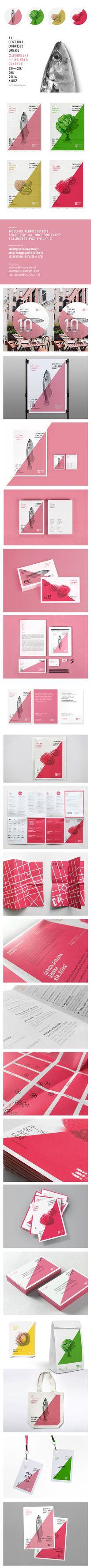 identity of the 11. Festival Dobrego Smaku in Lodz on Branding Served — Designspiration
