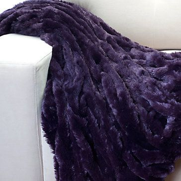 Throw for my couch - SO soft and comfy and adds a pop of color to the room. Lazo Throw - Aubergine | Throws | Bedding & Pillows | Z Gallerie