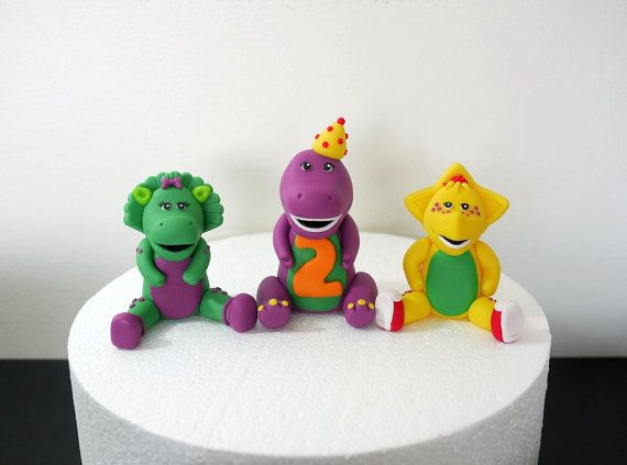 Fondant Barney and Friends Cake Topper