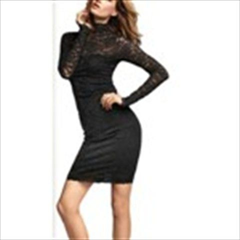 Seductive Backless Lace One-piece Mini Dress Evening/Party Purity Shaping High Collar Clubwear