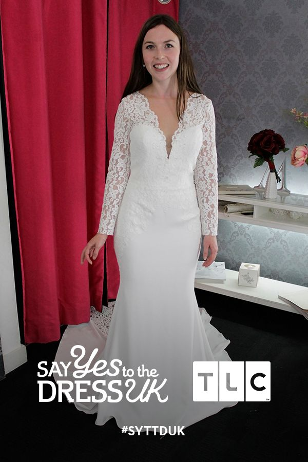 Like a bit more coverage? A long sleeved lace dress helps you feel more confident on your big day. Would you say yes to this classic lace dress?