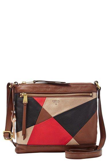 Fossil 'Mini' Leather Crossbody Bag