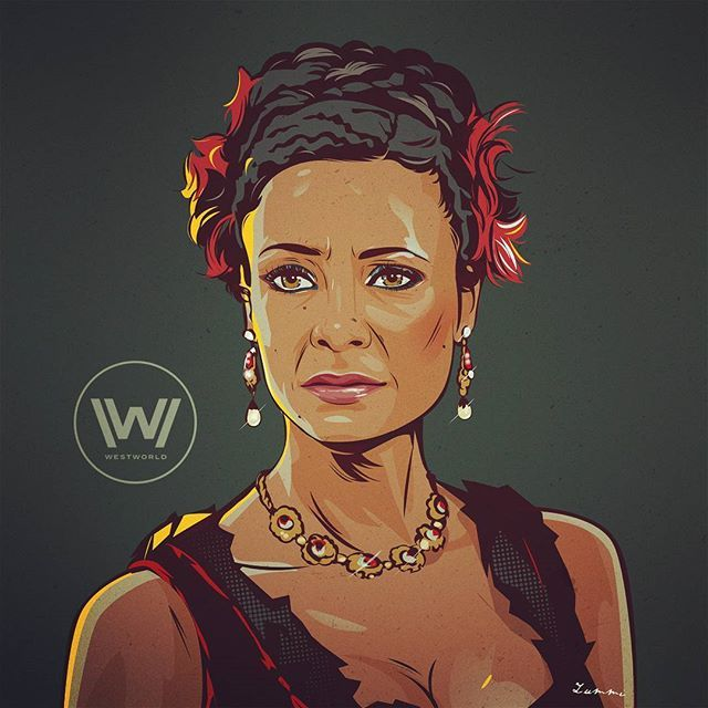 Woke up feeling inspired after watching #Westworld last night! Here's Maeve, my favorite character from the series. In love with  Thandie Newton's acting #maeve #girlcrush  #thandienewton #westworld #hbo #fanart #digitalart #vectorart #illustration #doesntlooklikeanythingtome #whatdoor https://www.instagram.com/makemebark/