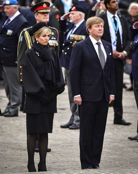 King Willem and Maxima attend the Remembrance Day Ceremony