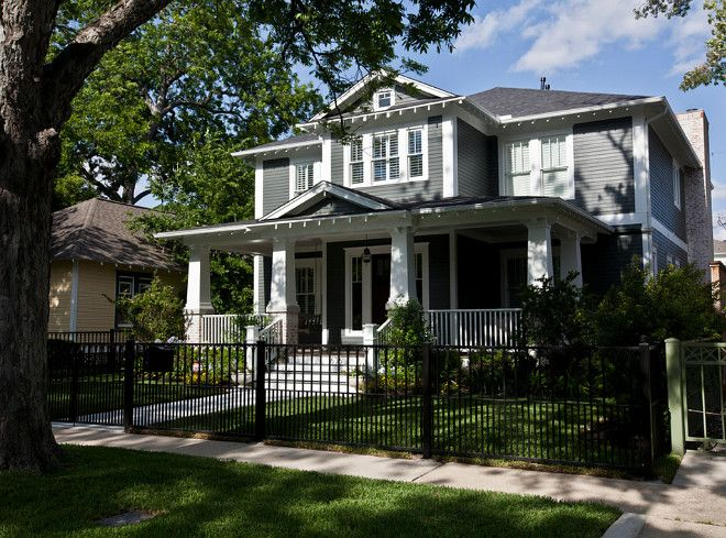 Exterior Paint Color - Sherwin Williams SW7068 Grizzle Gray and trim in SW SW7008 Extra White