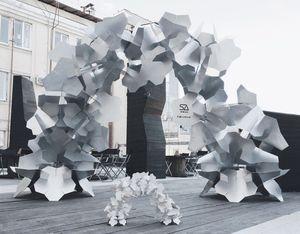 Installation by SA lab  #SAlab #parametric #architecture #installation #modernart #modern #metall #arch #digital #generative #design #nordic #pavilion