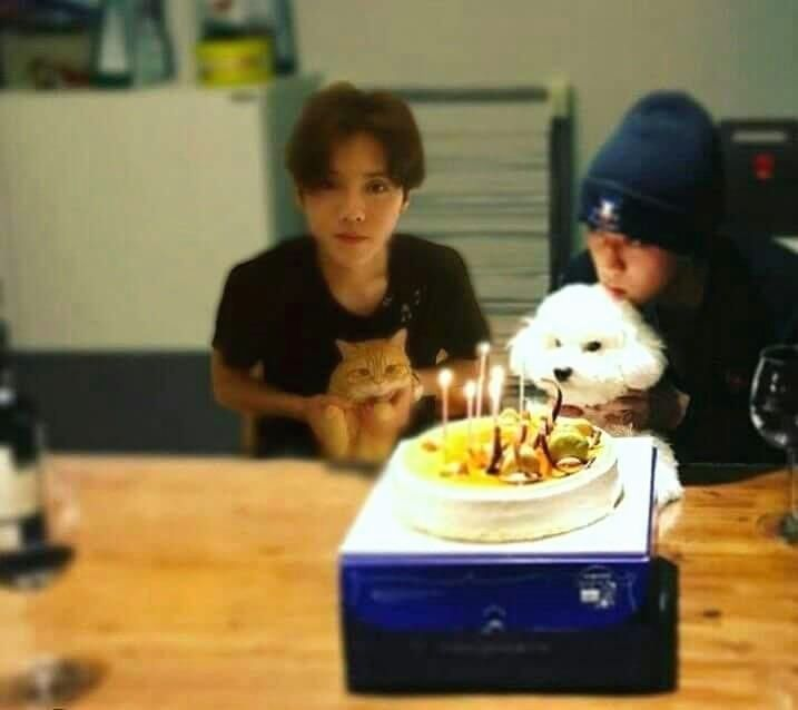 Lmao, someone edited Luhan into Sehun's birthday pic. I love everything about this. #HunHan #Luhan