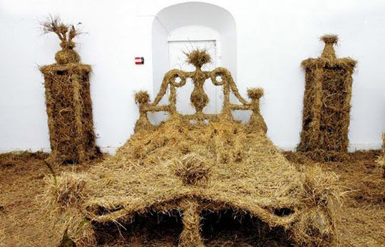 10 Weird and Wonderful Pieces of Bedroom Design. Itchy hay bed for the purebred.