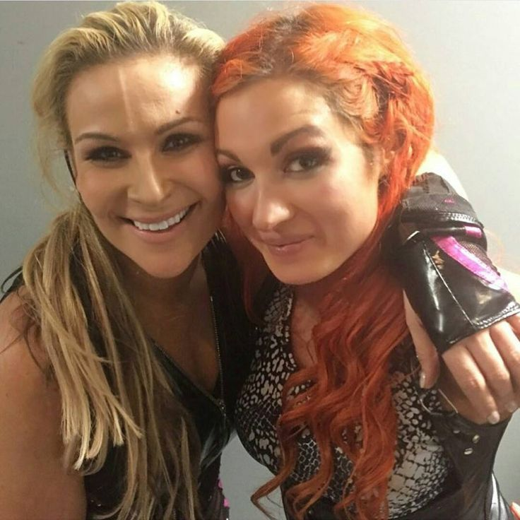 """""""My two favorite wrestlers. I'd love to see them in a tag team together. @natbynature @wwebeckylynch #TeamNattie #WeWantNattie #natbynature…"""""""
