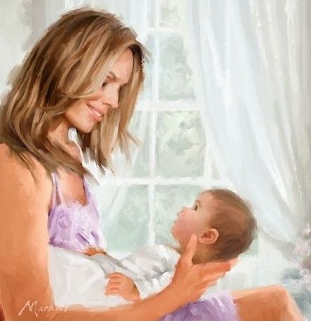 Art Mother And Child Paintings