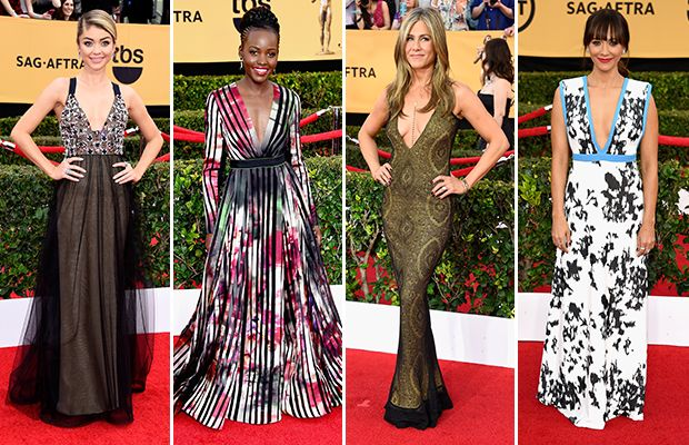 "SAG Awards: Red carpet trends ... ""Take the plunge"""
