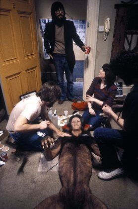 "Behind the scenes of ""An American Werewolf in London"" transformation sequence."