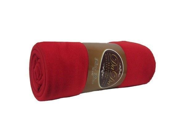 DaDa Bedding Solid Ruby Red Super Plush Soft Warm Oversize Polar Fleece Throw Blanket