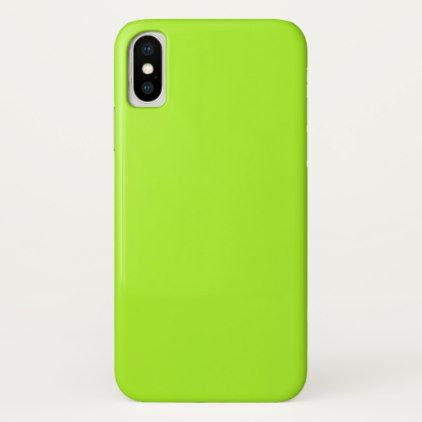 Lime Green Abstract Background iPhone X Case - simple clear clean design style unique diy