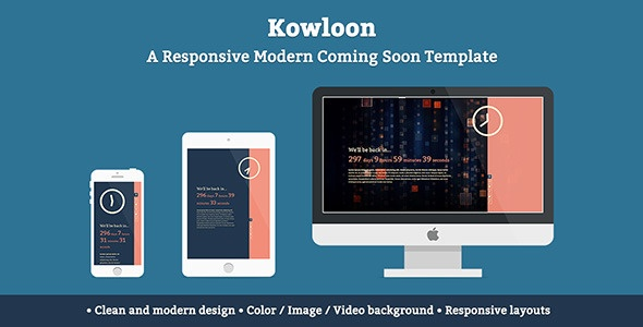 Themeforest - Kowloon - A Responsive Modern Coming Soon Template
