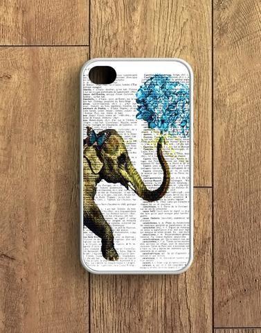 Dictionary Elephant Flower iPhone 4 | 4S Case