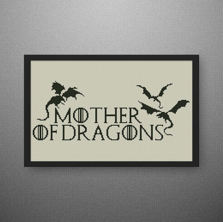 Mother of Dragons cross stitch pattern. Game of Thrones cross stitch pattern, PDF counted cross stitch pattern, P175 by NataliNeedlework on Etsy