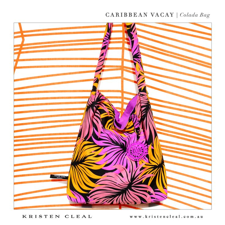 Colada Bag by Kristen Cleal Designs  Caribbean Vacay 2014 Collection