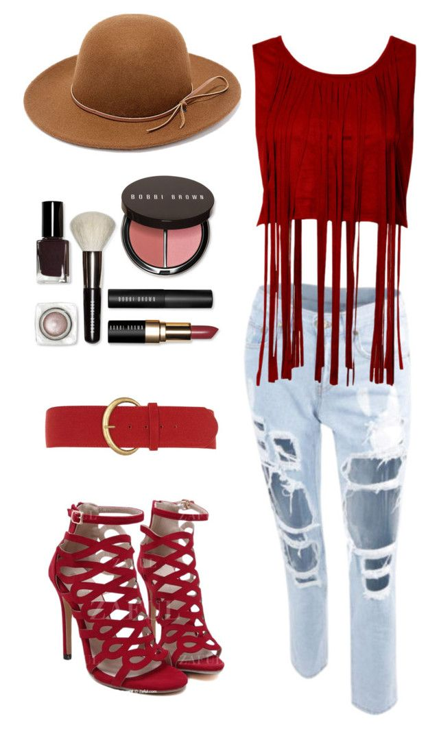 """""""Festival Fringe Outfit"""" by yangyangxmm on Polyvore featuring Dorothy Perkins, Bobbi Brown Cosmetics and RHYTHM"""