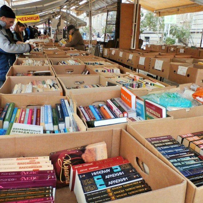 Book Market, Sofia at Slaveikovi Square - daily !