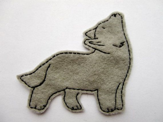 Wolf iron on patch sew on patch embroidered patch by dahliasoleil