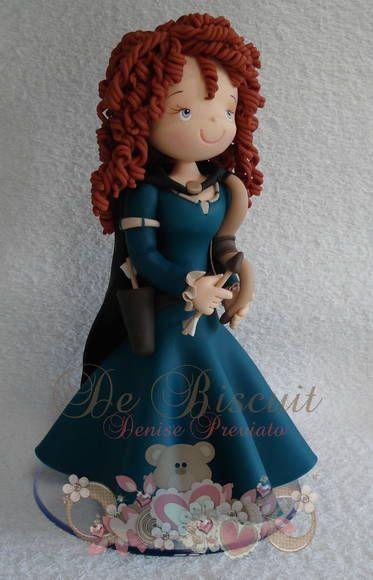 Enfeite de mesa, princesa Merida | De Biscuit | 2EB596 - Elo7