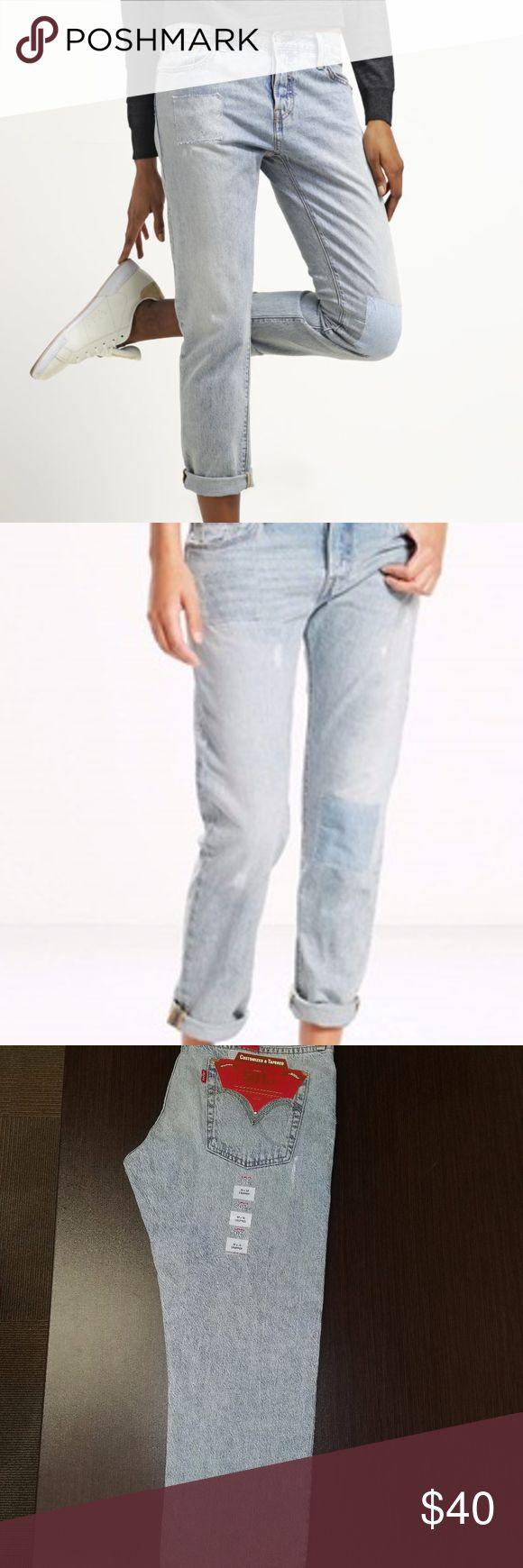 Women Jeans Levi's® 501 CT- Tapered Jeans Women Jeans Levi's® 501 CT - Tapered Jeans - Sunset Patch, loose fit inner thigh Levi's Jeans Boyfriend