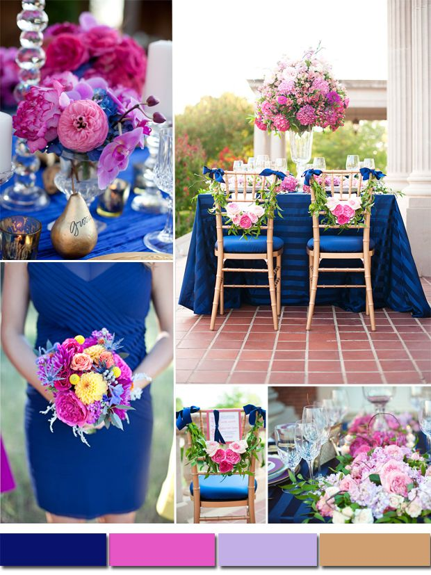royal blue and silver wedding centerpieces%0A Wedding Color Palette  Pink  u     Purple  with accents of Blue   Pink purple   Lavender and Teal