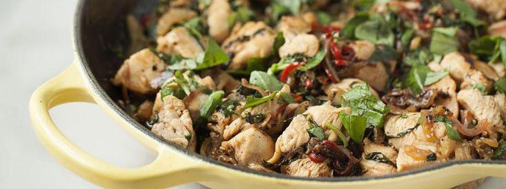 pollo saltato in padella con verdure