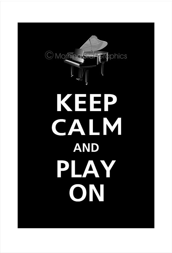 PIANO Keep Calm and PLAY ON 13x19 Poster Ebony by PosterPop, $16.95