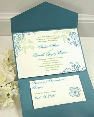 tarjetas e de boda color turquesa