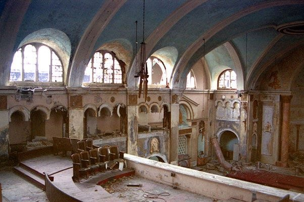 Prior to its demolition in May 2003 the ruins of the St. Cyril a Methodius parish off of Van Dyke was Detroit's most haunting ruin; a ravaged but still proud symbol to a community long since moved on.    Looking not unlike an ancient Christian ruin, St. Cyrils stood like a monument over a desolate landscape. The neighborhood that once supplied its congregation and student body has physically disappeared. First the people left, then the houses resulting in a vast prairie in the heart of…