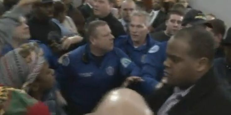 A brawl broke out at a St. Louis City Hall meeting on the implementation of a civilian oversight board of the police department on Wednesday night, according to reports from the scene.  Meeting on proposed civilian oversight review board out of con...  JEFF ROORDA is the #BAGGA in this .With his I am Darren Wilson Bracelet