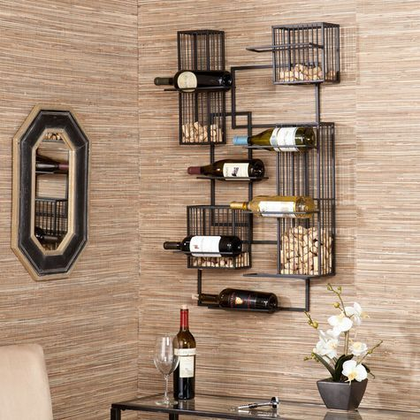 Create a work of art with your wine collection! This contemporary wall sculpture provides stylish storage and unique exhibition of your wine assortment. #shopko